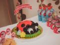 красный на торт украшение