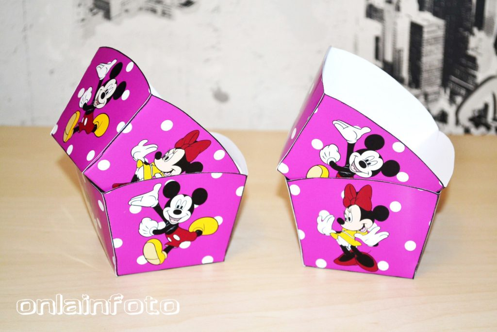 бумажные коробочки с минни