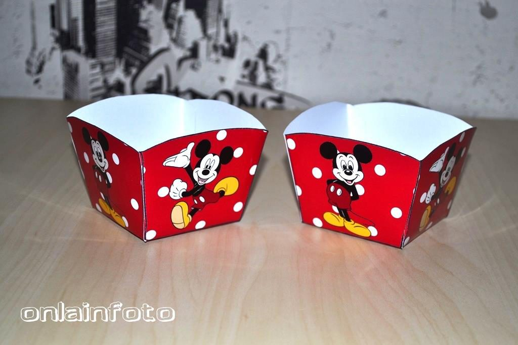 коробочки для попкорна с микки маус