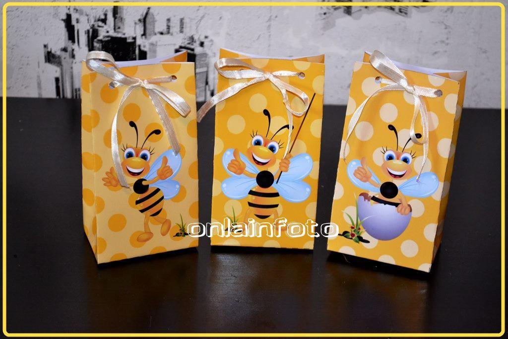 желтый подарочный пакет