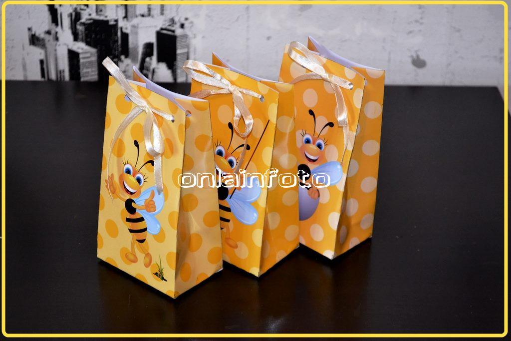 Желтый бумажный пакетик