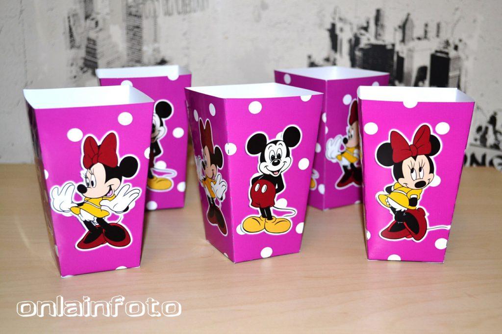 коробочки с микки для попкорна