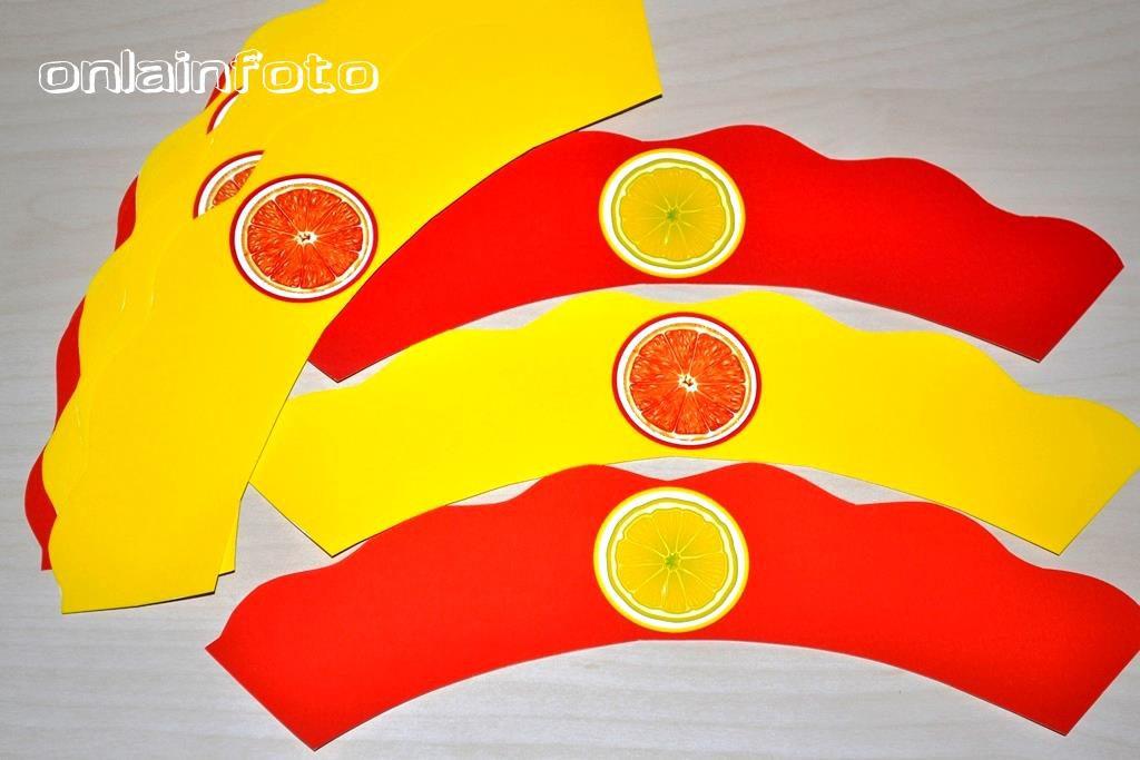 обертка для капкейков лимон апельсин