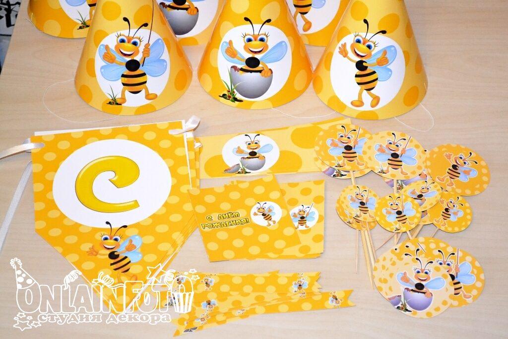 кенди бар - оформление пчелки