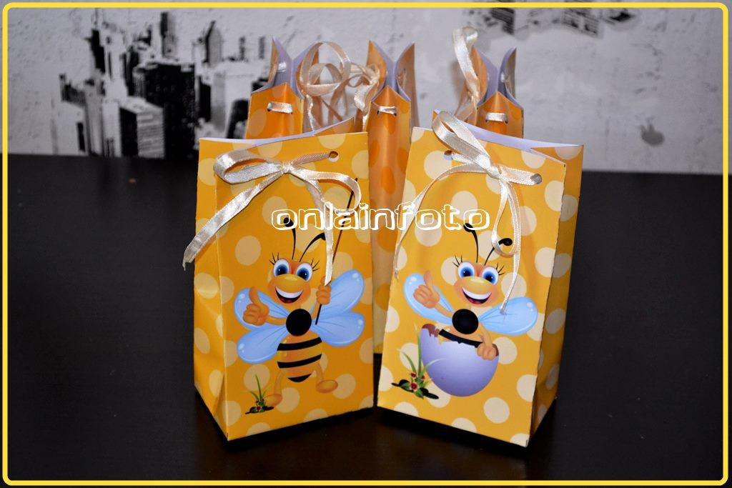 Пакетик под сладости с пчелами