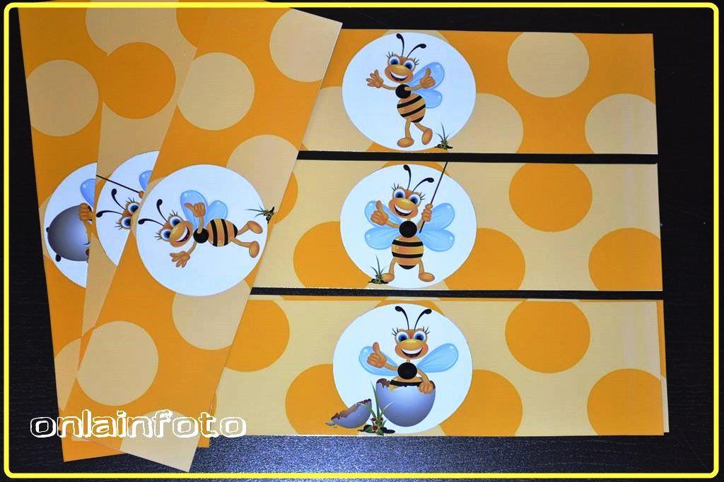 Наклейки на сок с пчелками