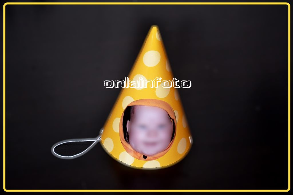 Колпачок с фото желтый