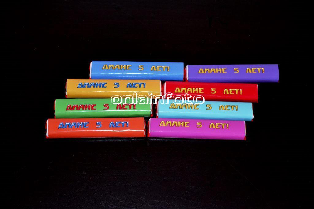 обертка для шоколада цветная