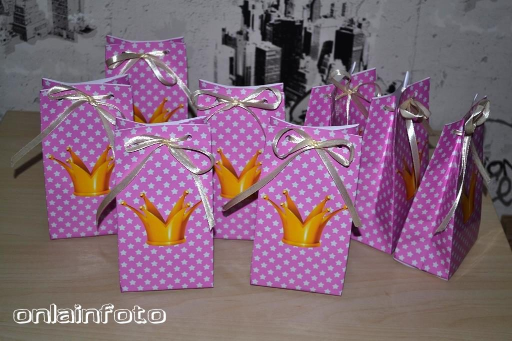 пакетики с коронами для принцесс