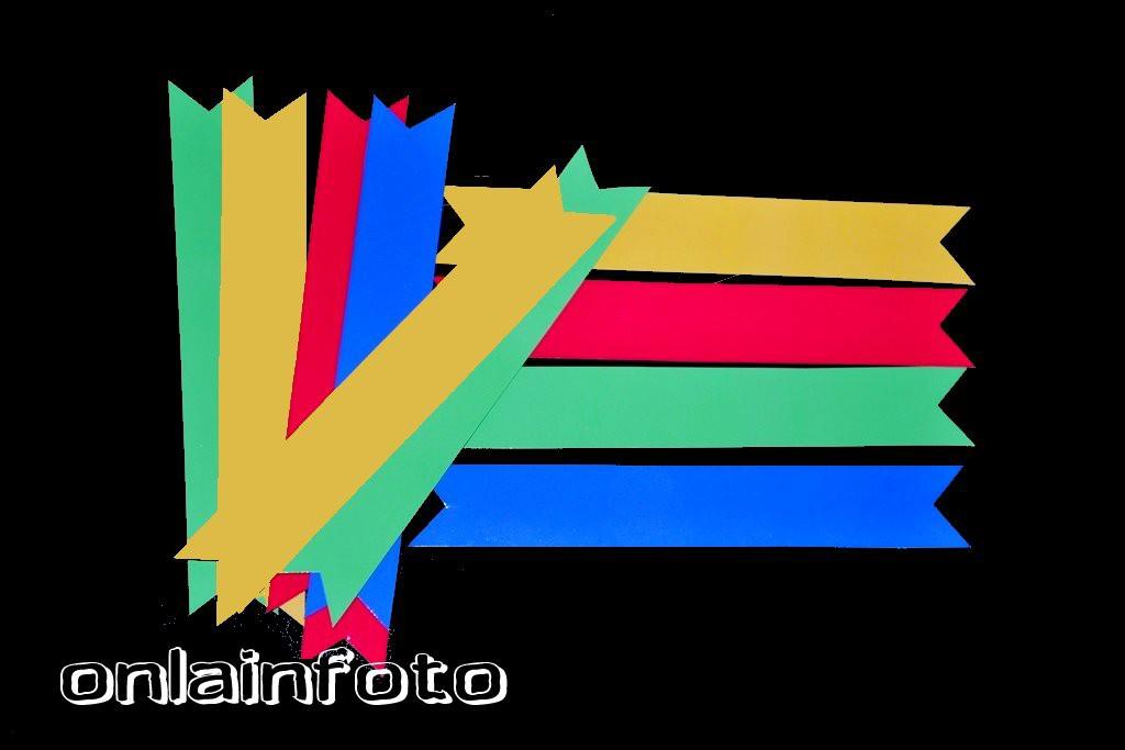 флажки на трубочки цветные
