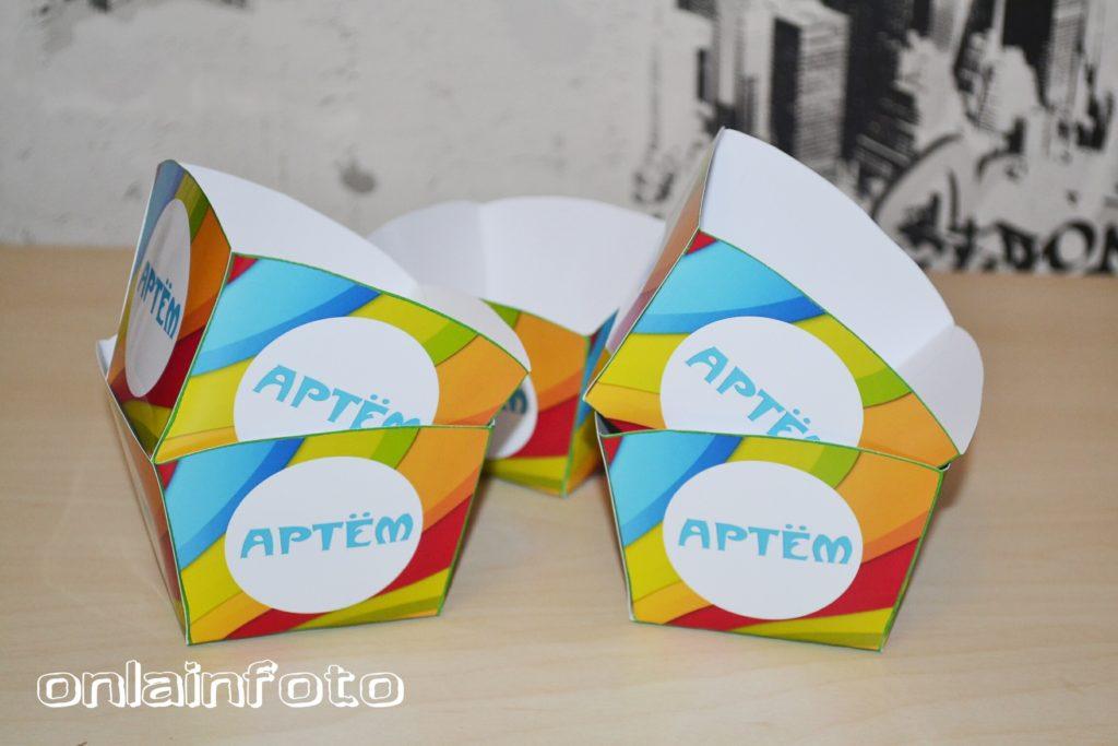 коробочки для сладостей цветные