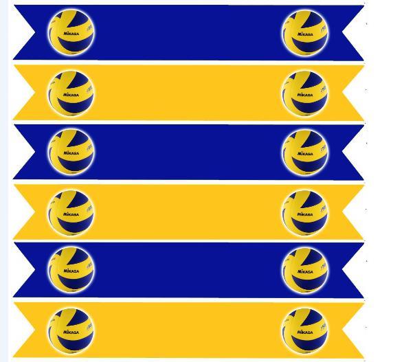флажки наклейки на трубочки волейбол