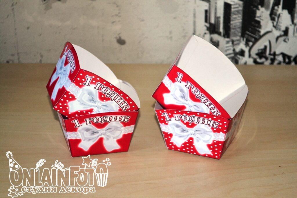 коробочки для сладостей красные
